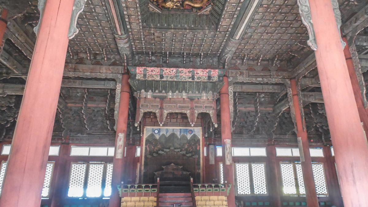 Deoksugung trône