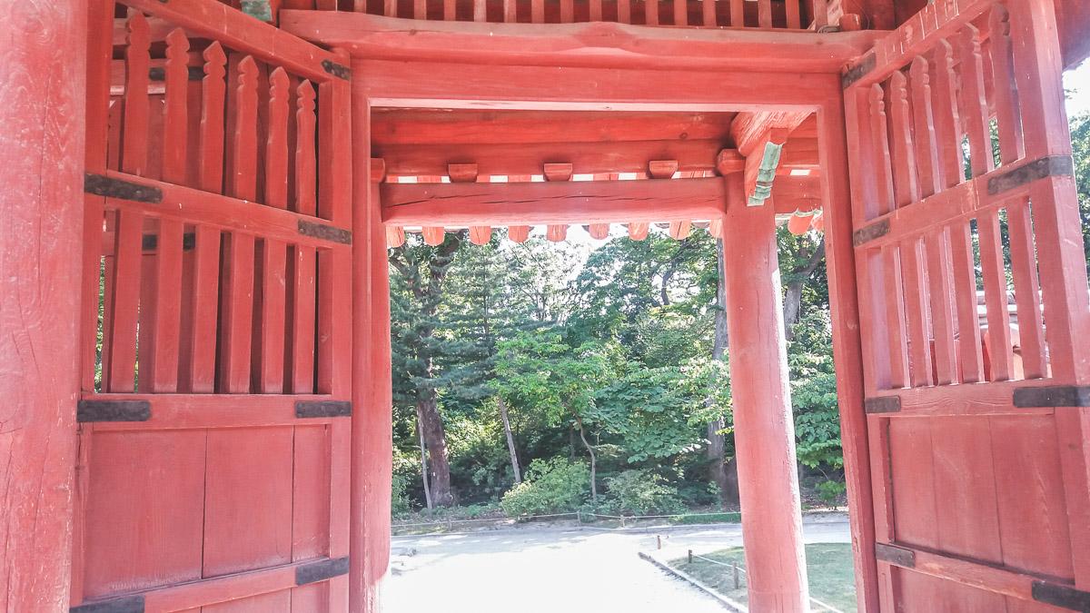 Porte au Jongmyo Shrine