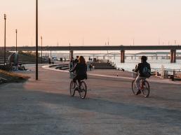 Louer un vélo au fleuve Han