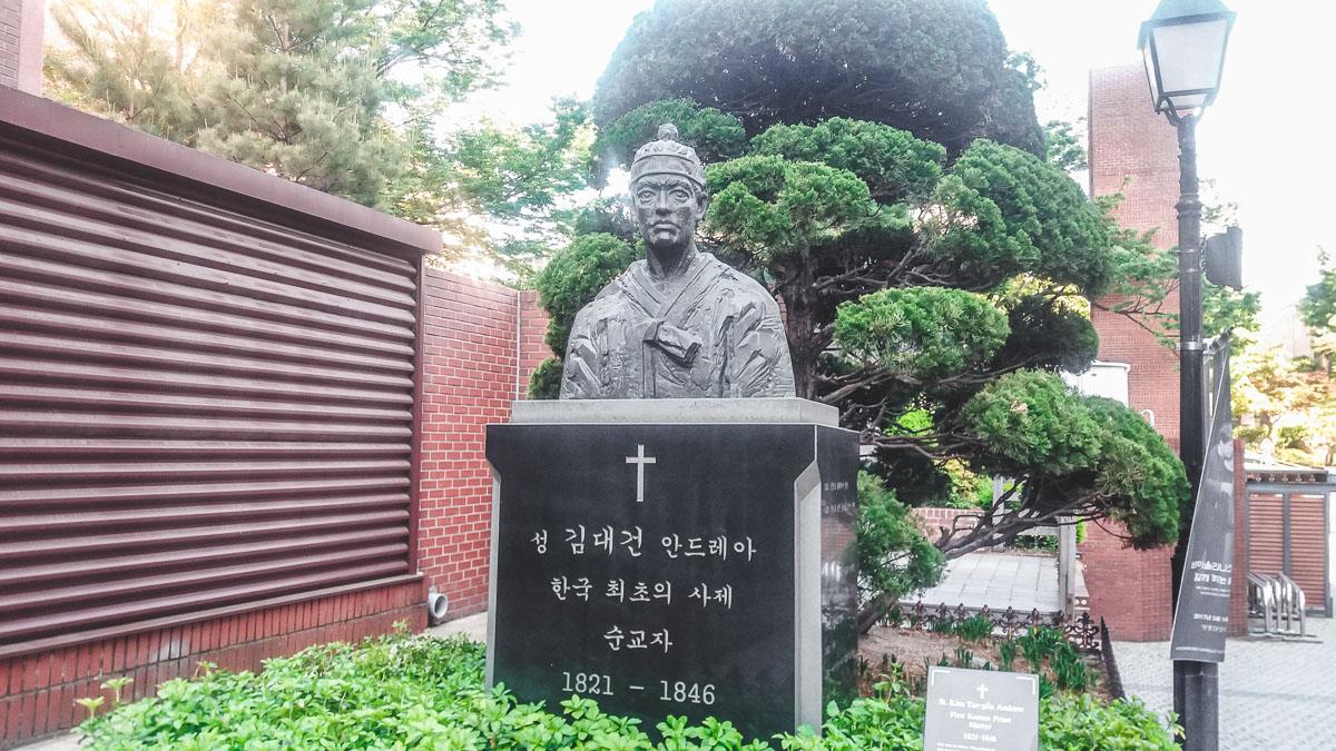 cathédrale myeongdong statue André Kim Taegon