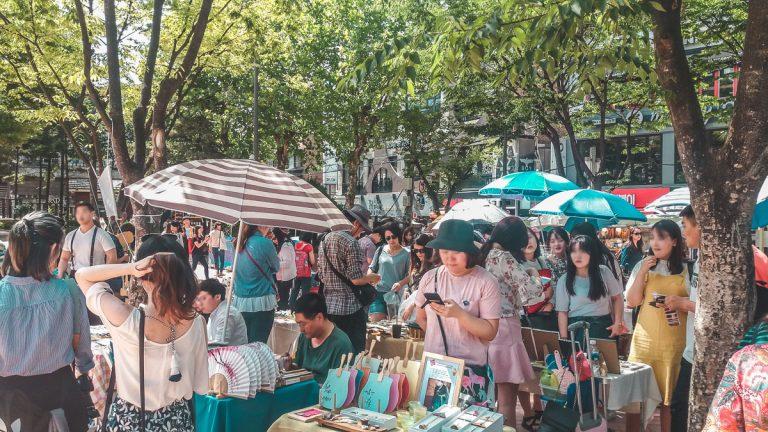 Free Market de Hongdae : un marché artistique et culturel