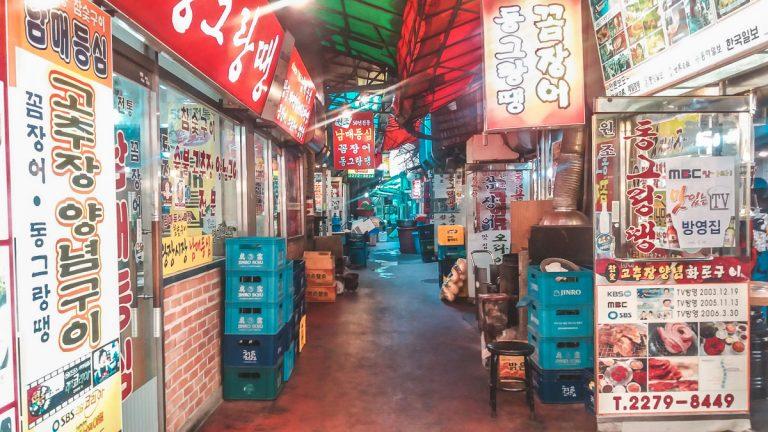 Gwangjang Market : Dégustation de street food à Séoul