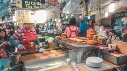 gwangjang market stand de bindaetteok