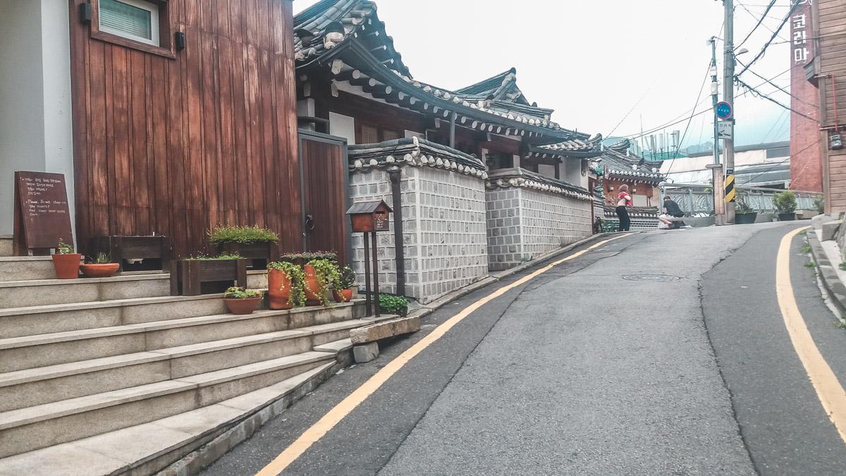 Bukchon, une rue avec des hanoks