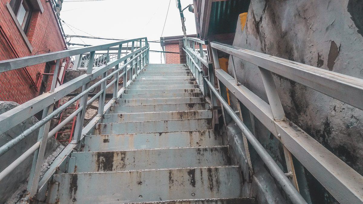 Escaliers à Bukchon-ro 5 nagil