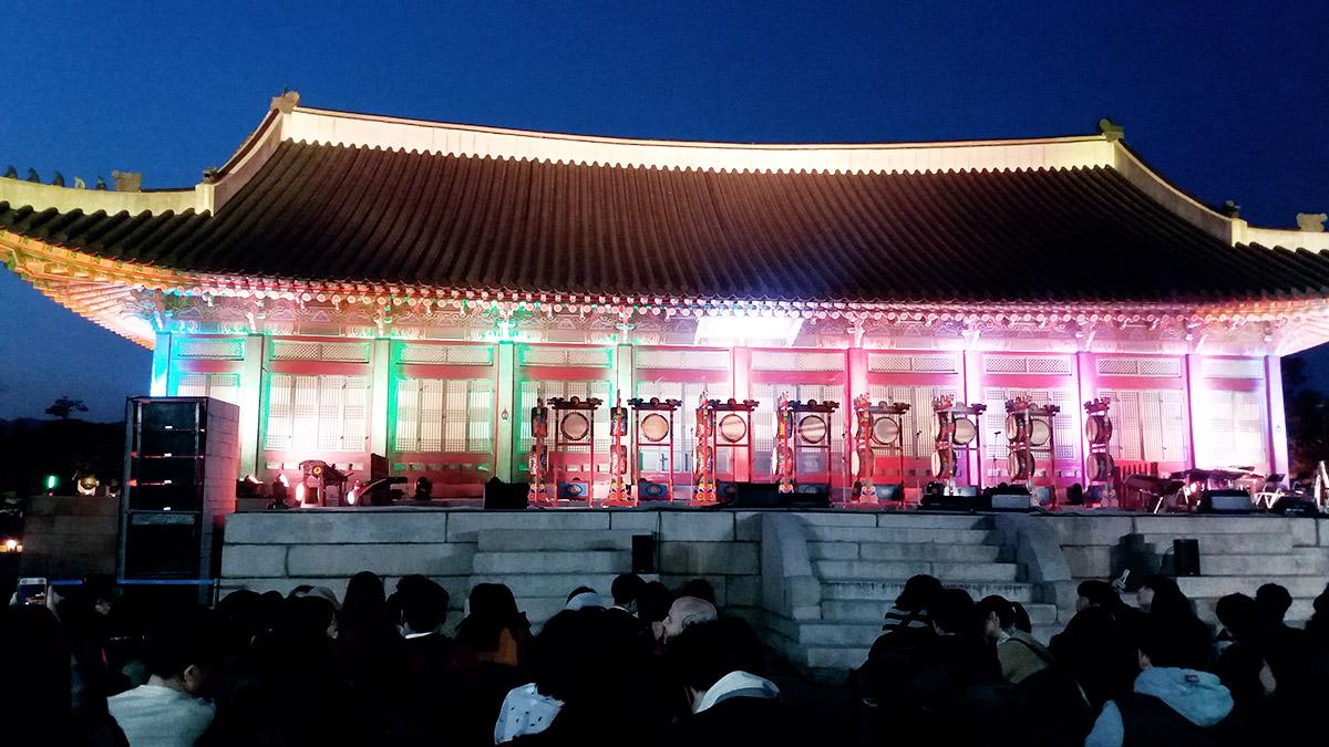 Gyeongbokgung de nuit spectacle