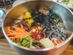 Bibimbap dans un restaurant à Jeonju
