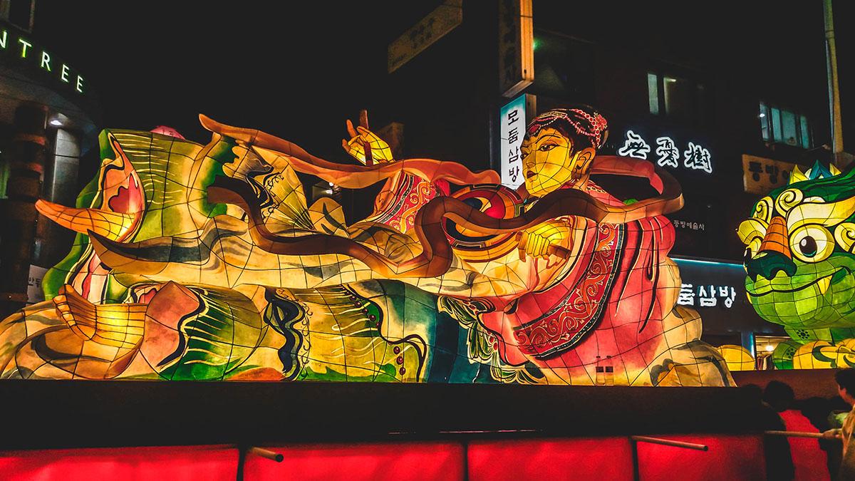Festival des lanternes de lotus de séoul