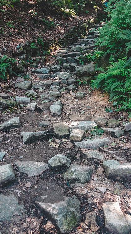Un sentier à Bukhansan