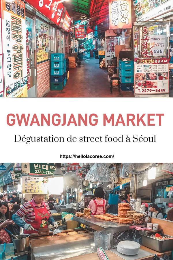 Gwangjang Market street food Séoul