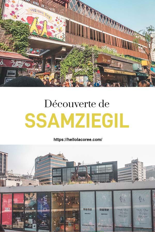Ssamziegil dans le quartier d'Insadong