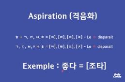 Aspiration en coréen (격음화)