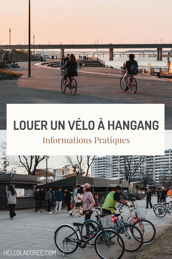 Louer un vélo à Hangang informations pratiques
