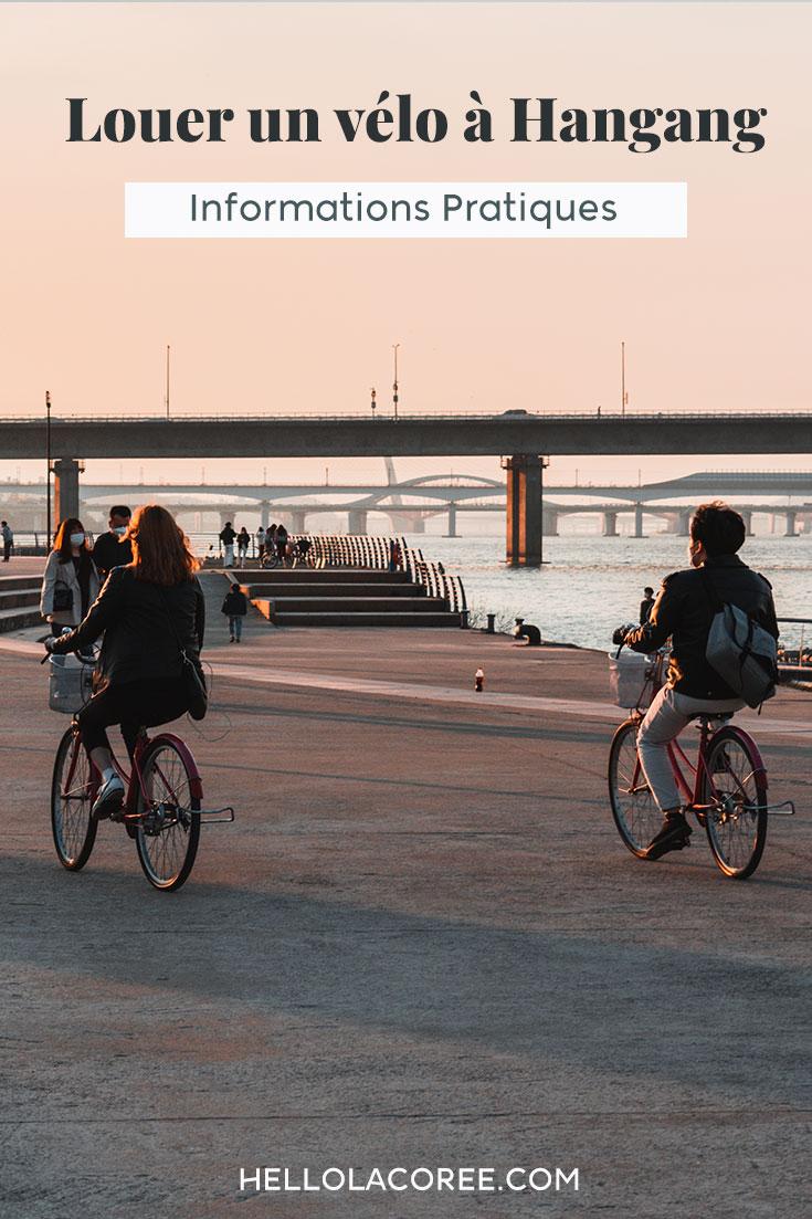 Location vélo à Hangang informations pratiques