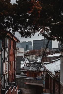 Hiver en Corée du Sud : Bukchon Hanok Village