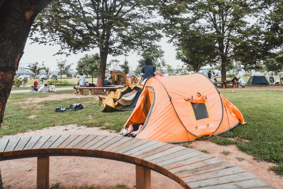 Yeouido Hangang Park : Louer une tente