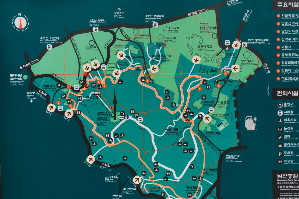 Namsan Park carte