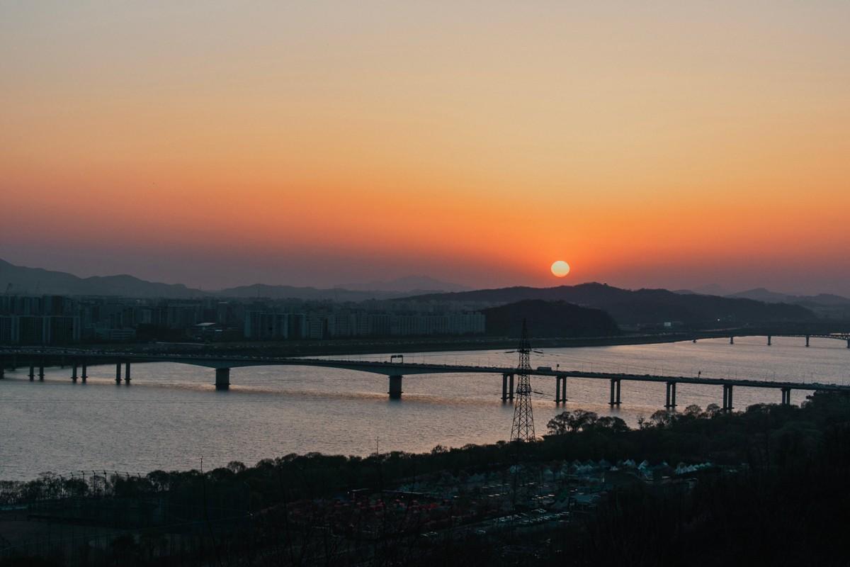 Haneul Park coucher du soleil