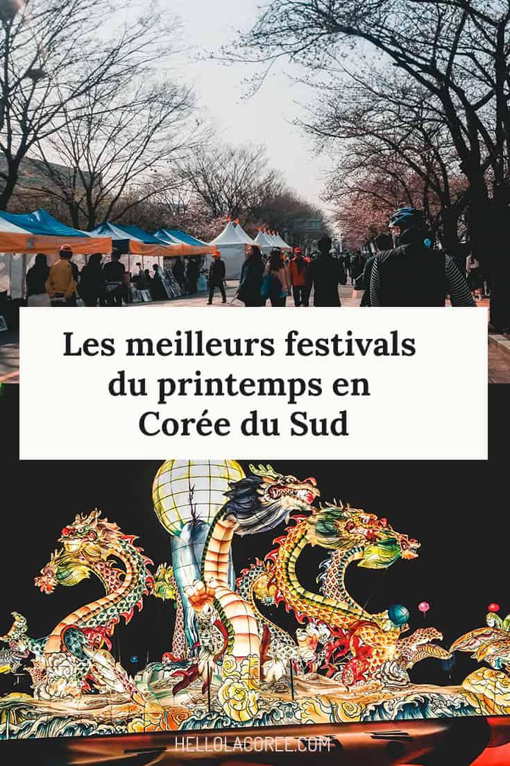 festivals du printemps en corée du sud