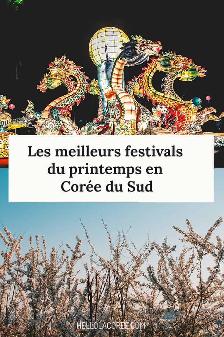 festivals printemps corée du sud