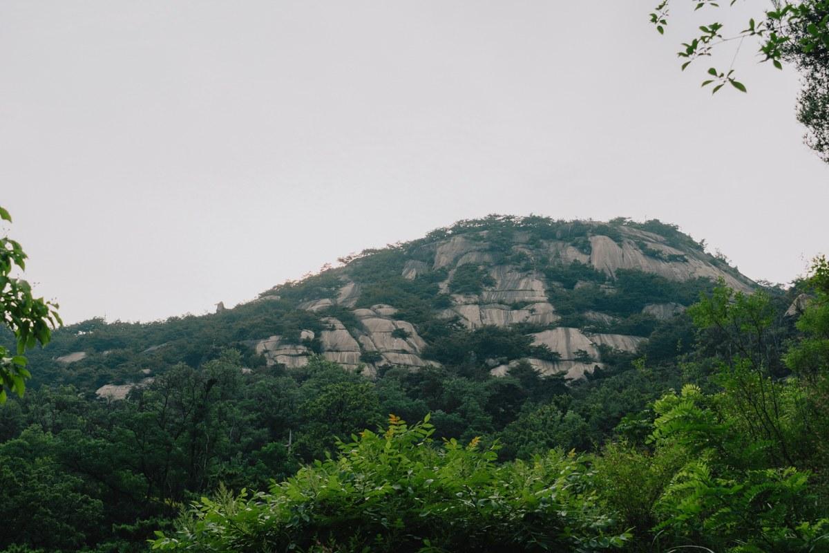 Montagne en Corée du Sud lors de l'été