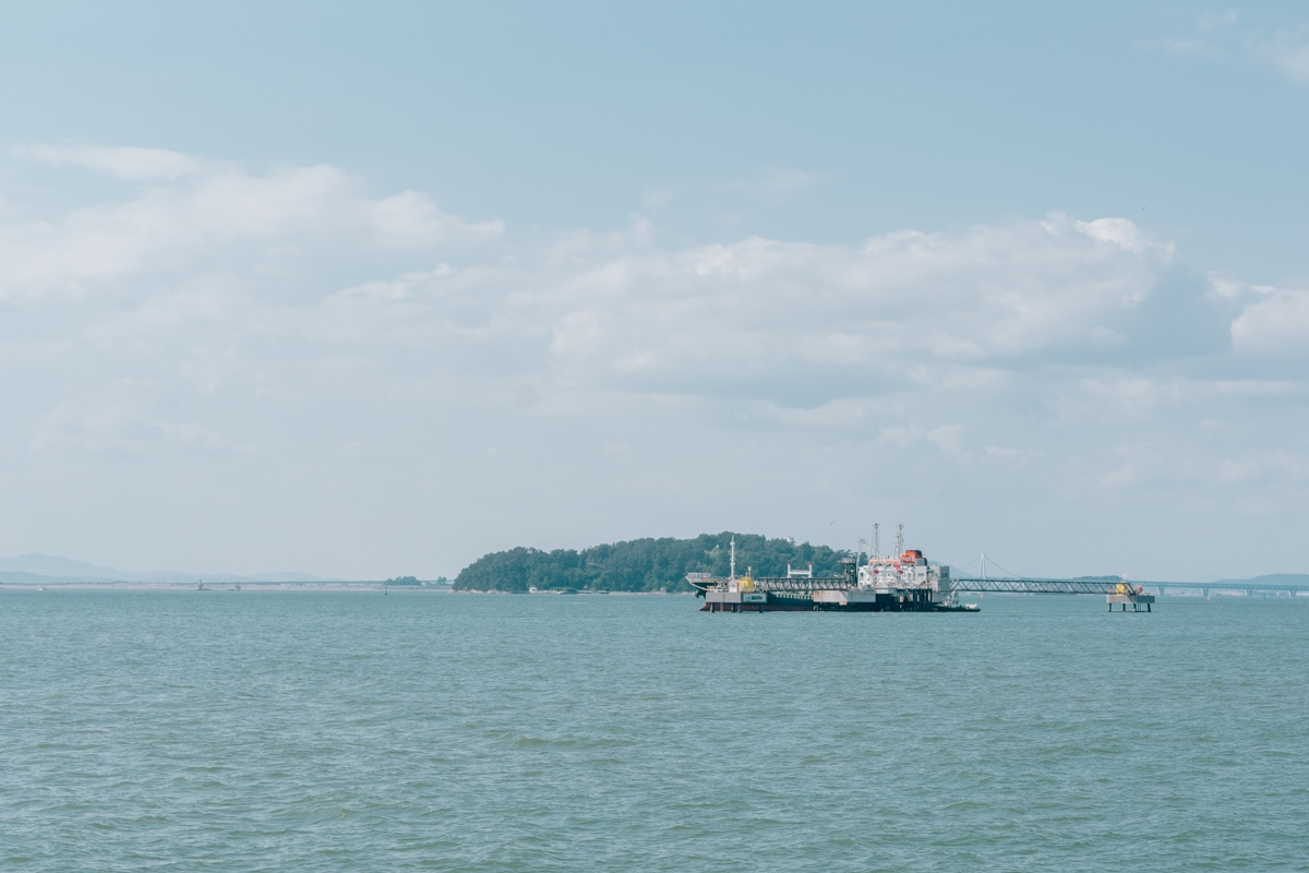 Wolmido Incheon mer